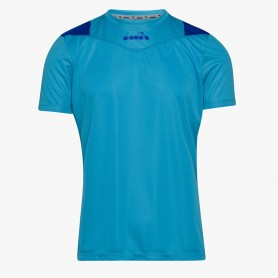 X-RUN SS T-SHIRT ROYAL FLUO
