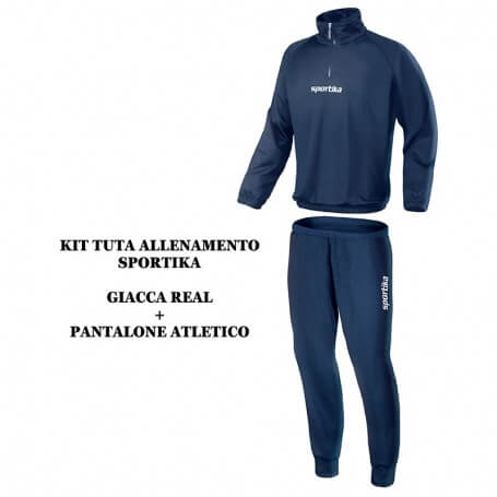 SET FELPA REAL + PANTALONE ATLETICO BLU NAVY