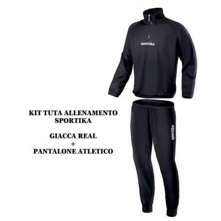 SET FELPA REAL + PANTALONE ATLETICO NERO